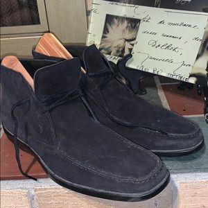 Tod's Desert Boots Black Suede Size 9.5 Men's